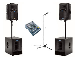 Rent full PA system